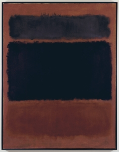 Mark Rothko, Black in Deep Red, 1957, oil on canvas Private Collection, Photograph courtesy The Mark Rothko Foundation, copyright 1998 Kate Rothko Prizel & Christopher Rothko/Artists Rights Society (ARS), New York